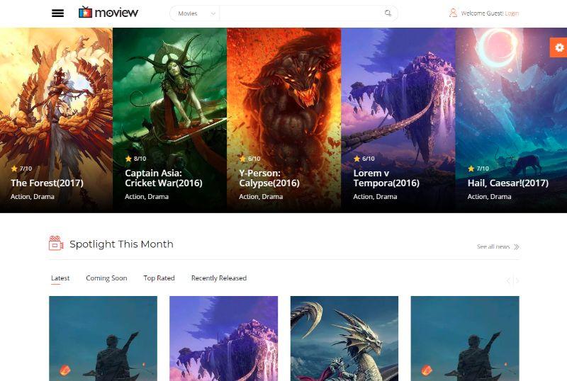 Moview WordPress Movie Film Theme