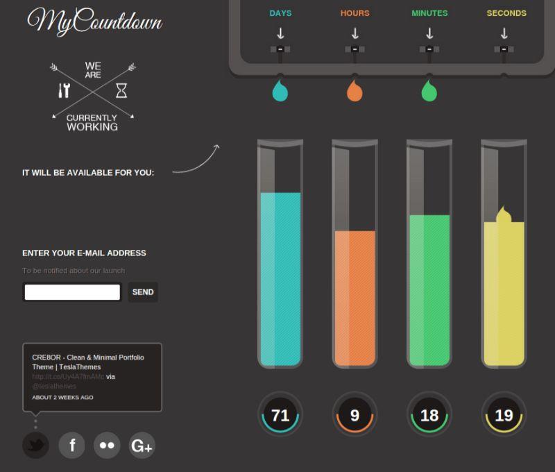 MyCountdown Coming Soon WordPress Theme