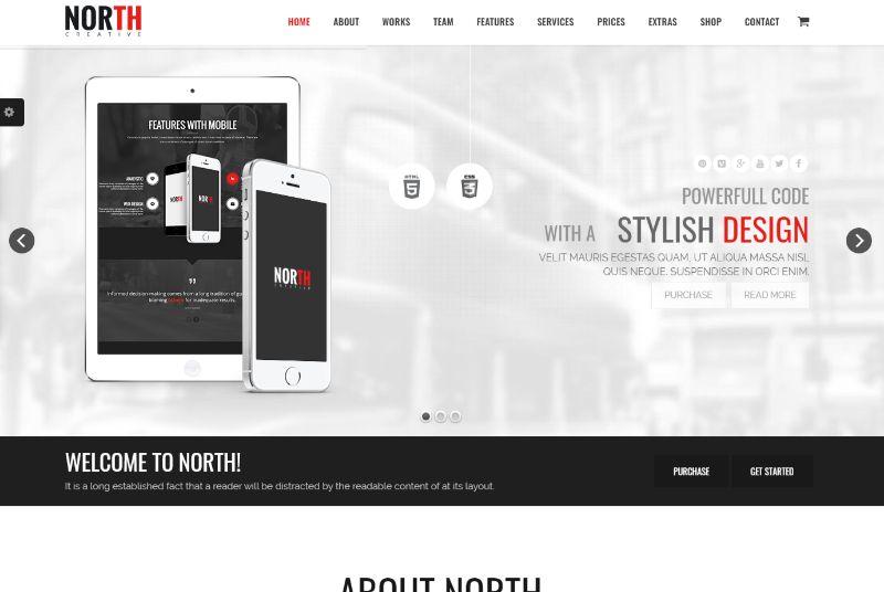 North One Column WordPress Theme
