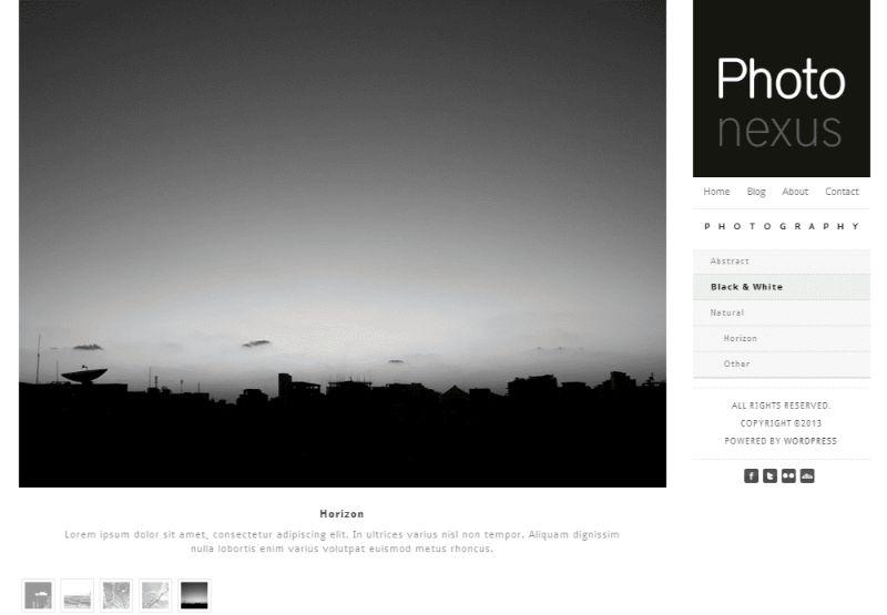 PhotoNexus Three Columns WordPress Theme