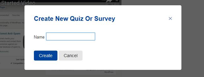 Enter a quiz name