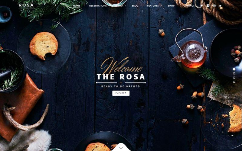 Rosa One Column WordPress Theme