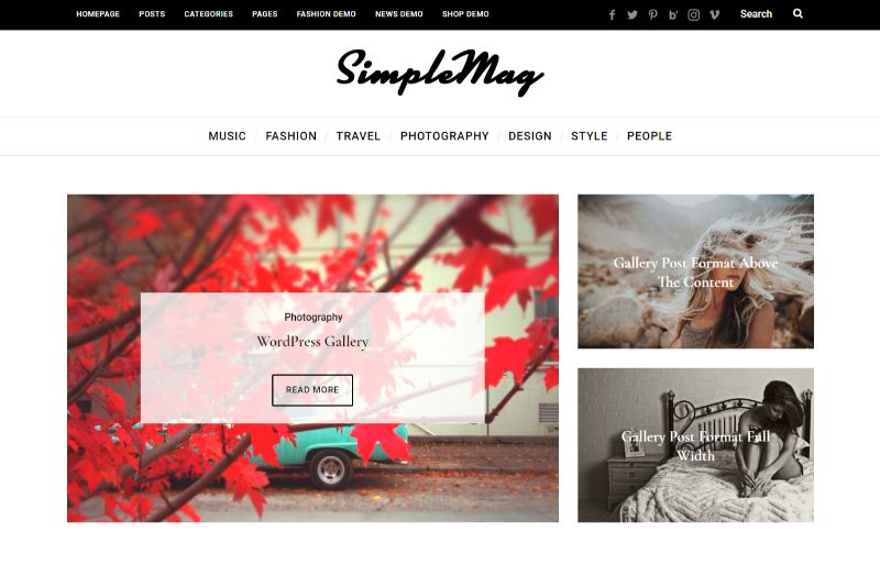SimpleMag Three Column WordPress Theme