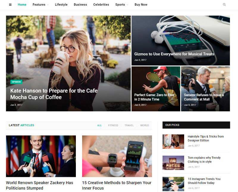 SmartMag Two Columns WordPress Theme
