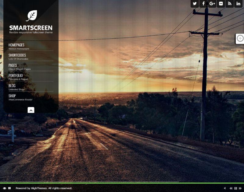 SmartScreen Left Sidebar WordPress Theme