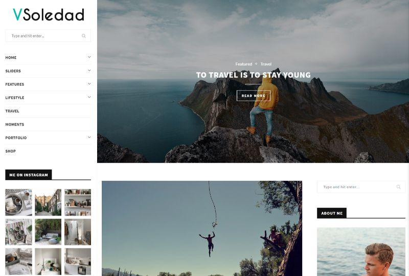 Soledad Three Column WordPress Theme