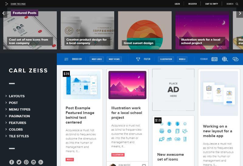 Suns Grid WordPress Theme