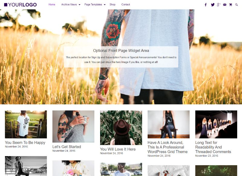 Super Grid WordPress Theme
