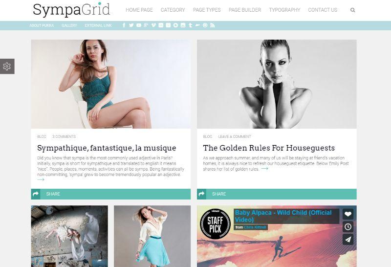 SympaGrid WordPress Theme