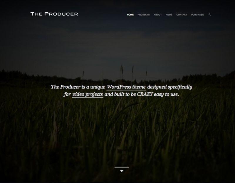 The Producer WordPress Movie Film Theme
