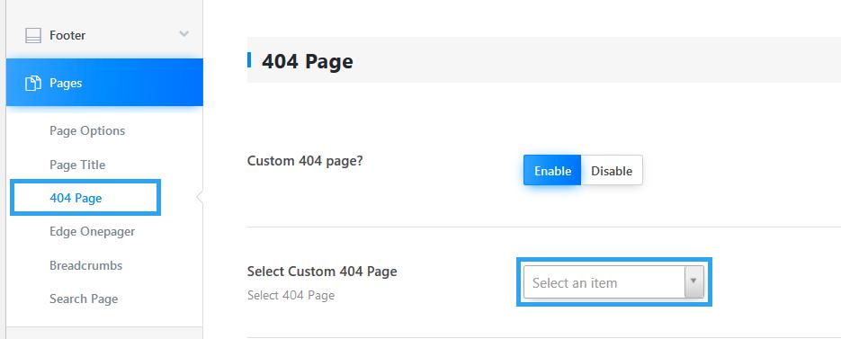 Theme custom 404 page