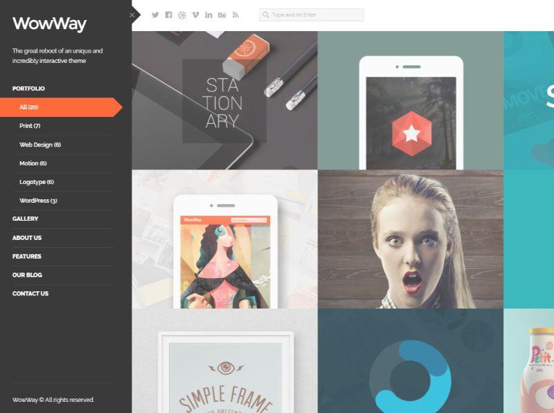 WowWay Left Sidebar WordPress Theme