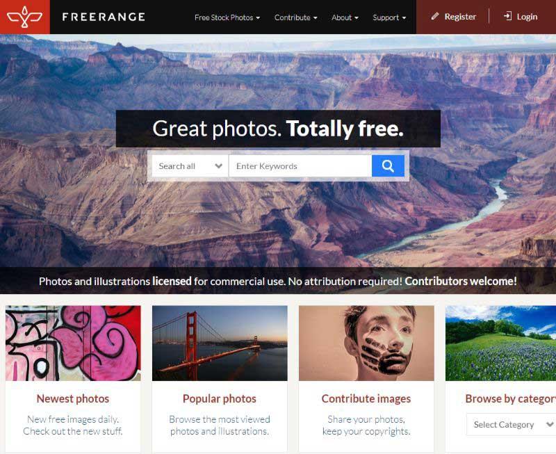 FreeRange free stock images