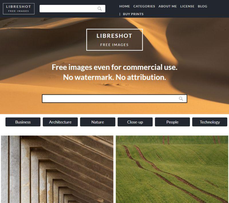 LibreShot free stock images