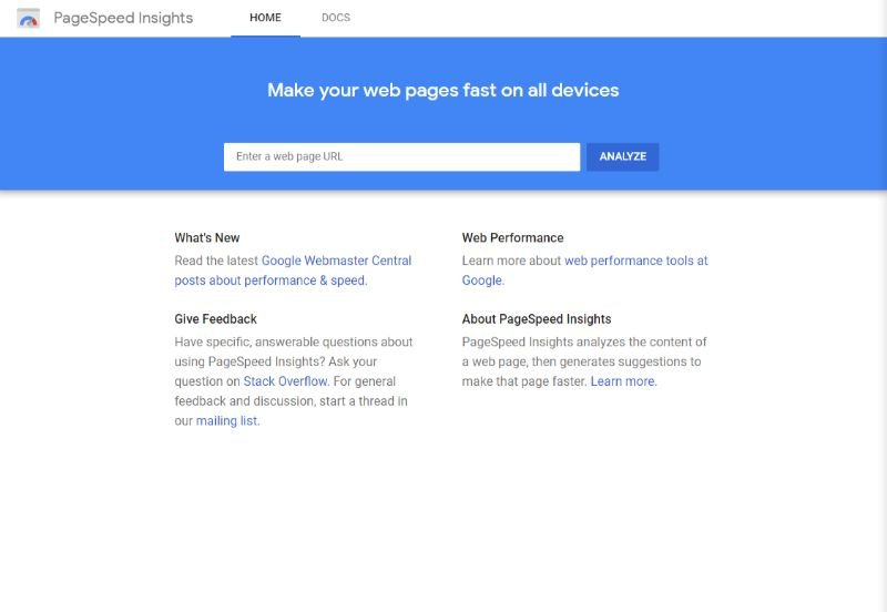 PageSpeedInsights-WordPress-speed-testing-tool