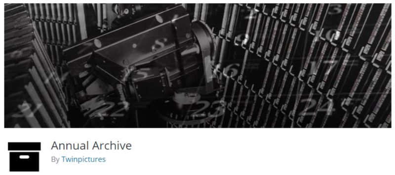 Annual Archive WordPress plugin