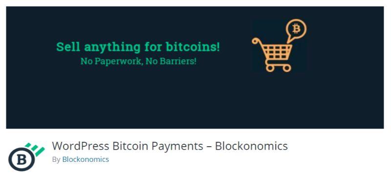 Blockonomics WordPress Cryptocurrency Bitcoin plugin