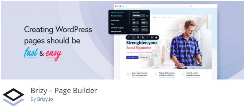 Brizy WordPress Page Builder