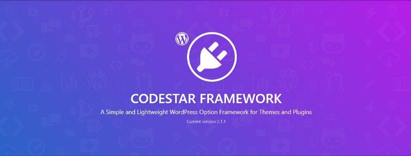 CodeStar WordPress Theme Options Framework