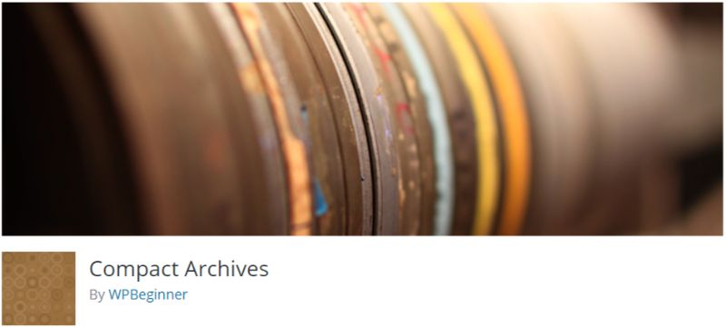 Compact Archives WordPress plugin