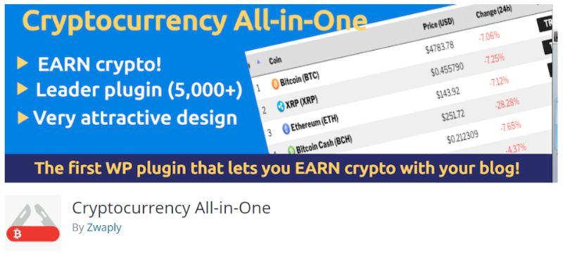 Cryptocurrency All-in-One WordPress plugin