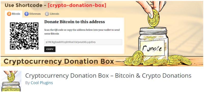 Cryptocurrency Donation Box WordPress plugin