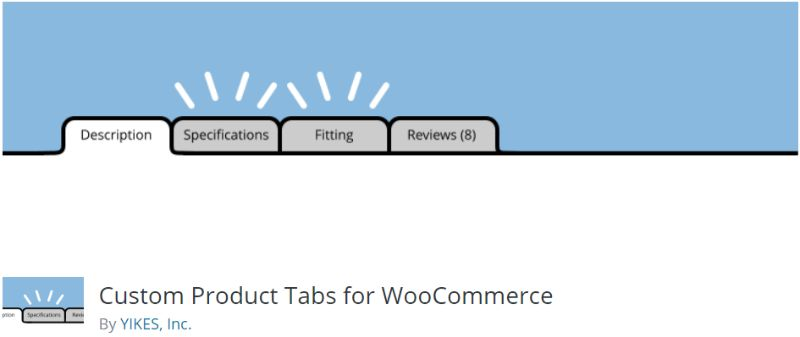 Custom Product Tabs WooCommerce plugin