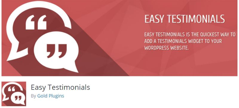 Easy Testimonials WordPress plugin