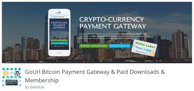 GoURL WordPress Cryptocurrency Bitcoin plugin