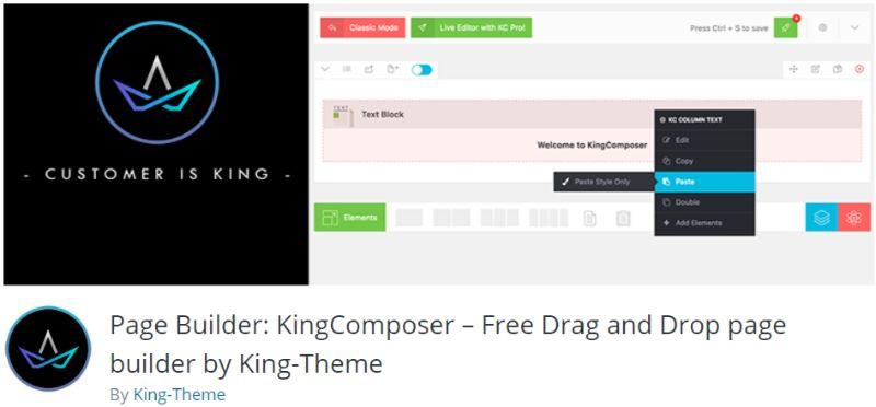 KingComposer WordPress Page Builder