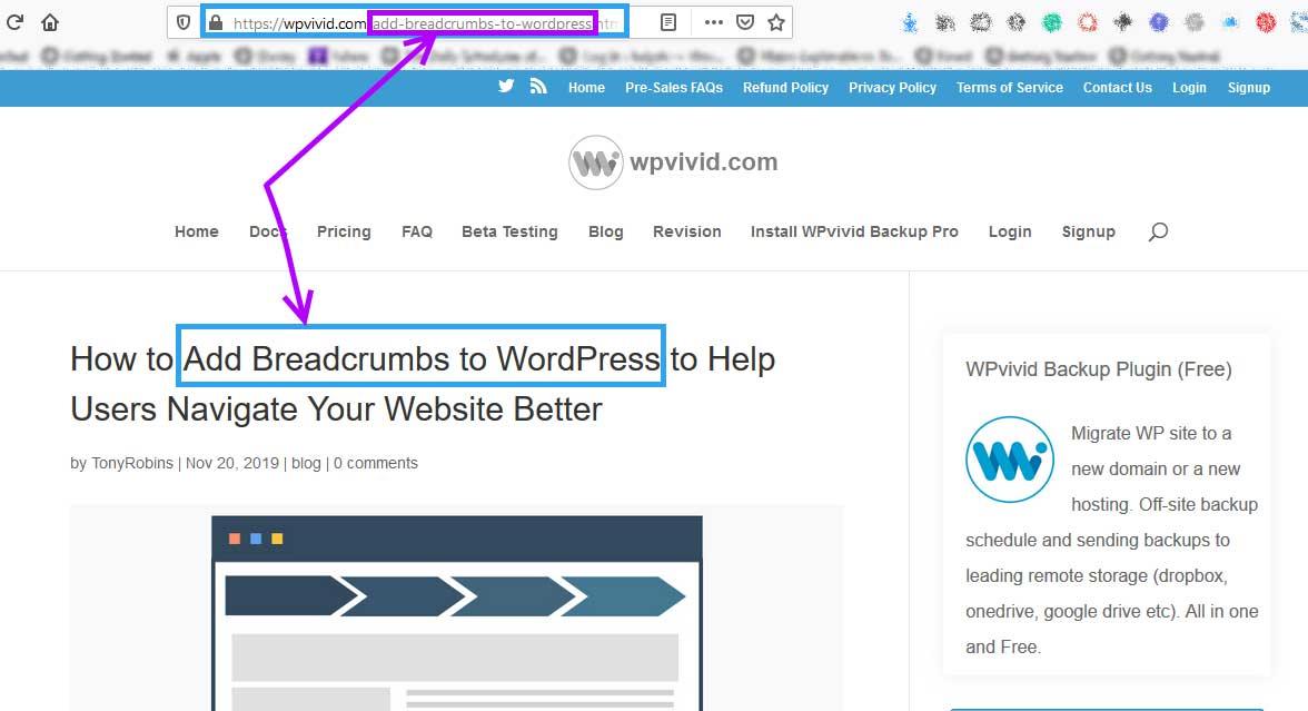 Use posts keywords in permalink