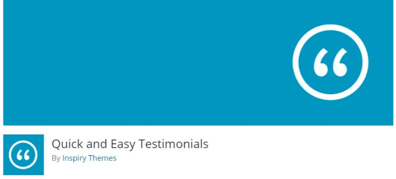 Quick and Easy Testimonials plugin