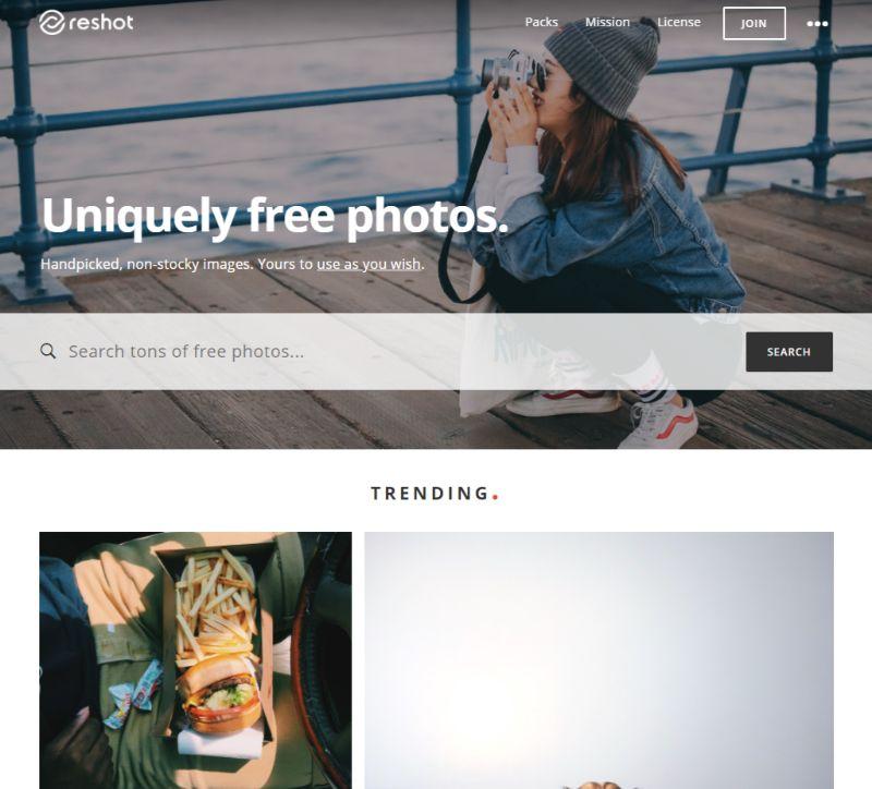 Reshot free stock images