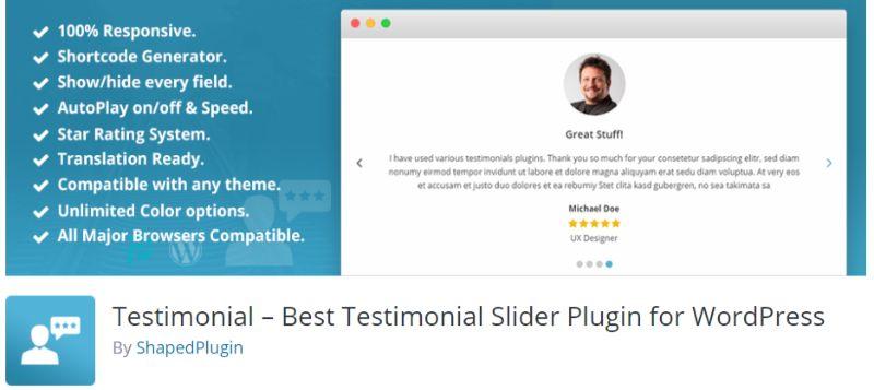 Testimonial Slider WordPress plugin