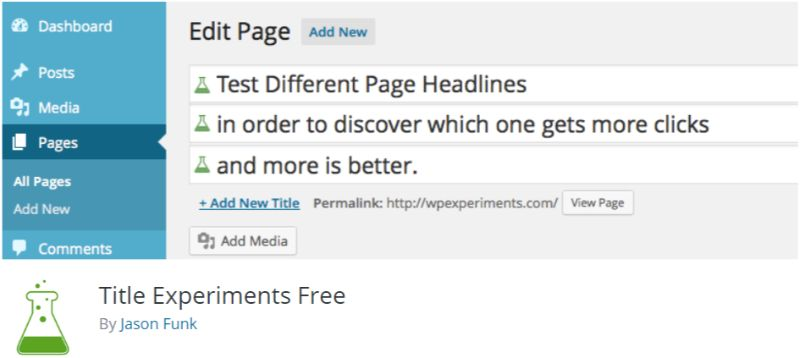Title Experiments free ab test tool