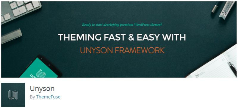 Unyson WordPress Page Builder