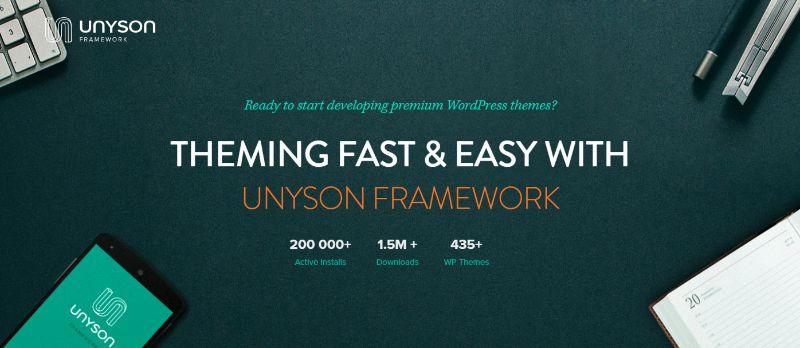 Unyson WordPress Theme Options Framework