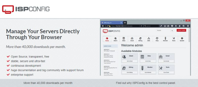 ISPConfig Web Hosting Control Panel