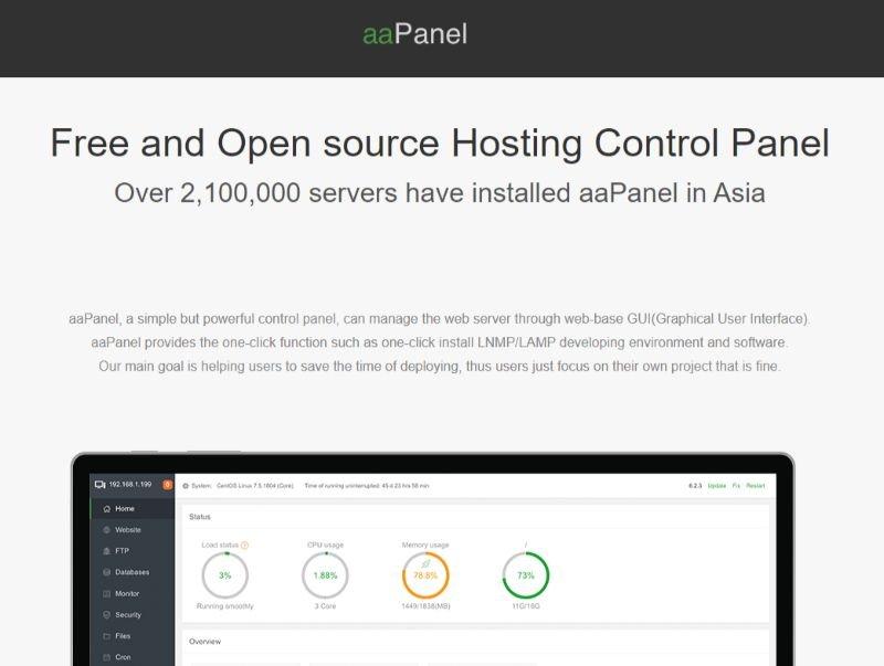 aaPanel Web Hosting Control Panel