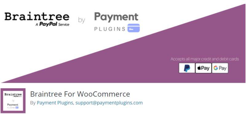 Braintree for WooCommerce plugin
