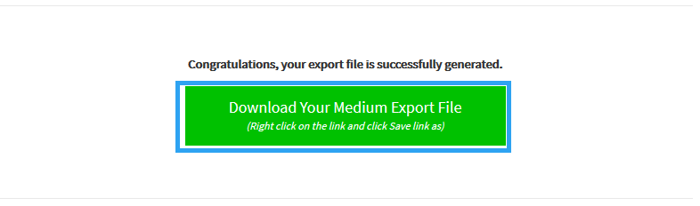 Download Medium export file