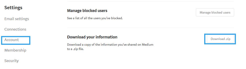 Download Medium info