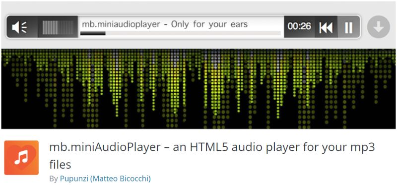 mb.miniAudioPlayer WordPress plugin