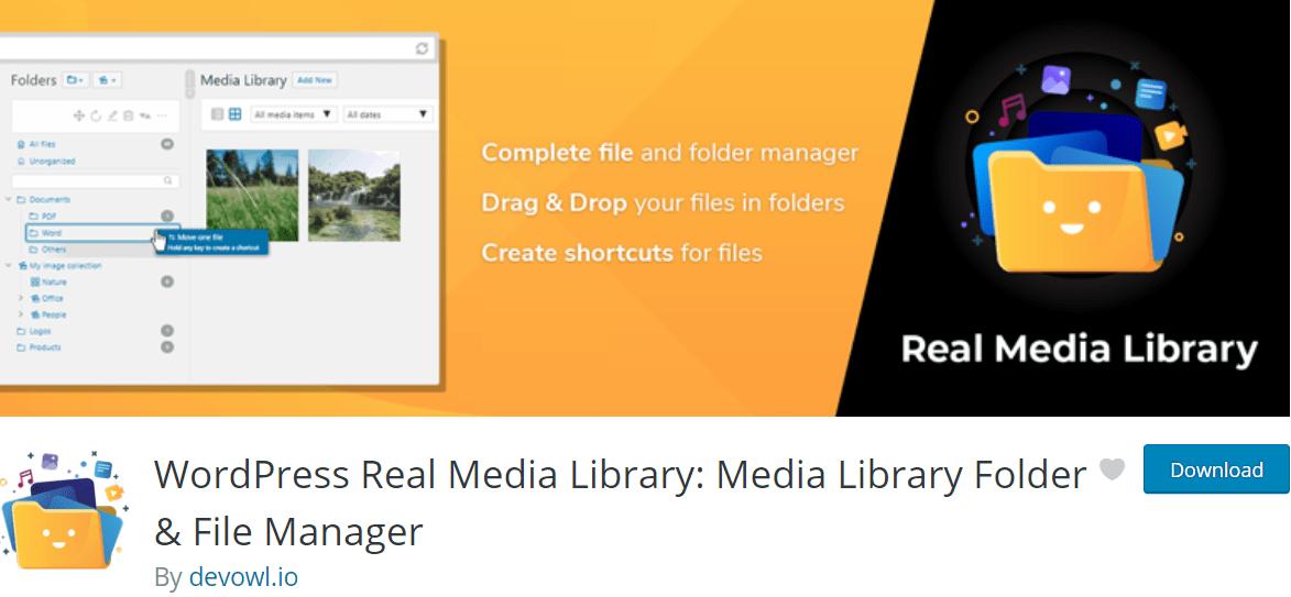 Real Media Library WordPress plugin