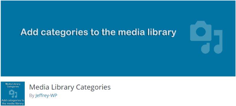 WordPress Media Library Categories plugin