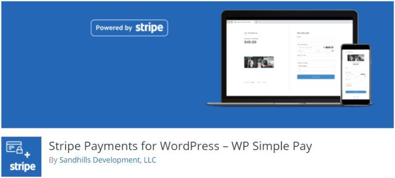 WP Simple Pay plugin