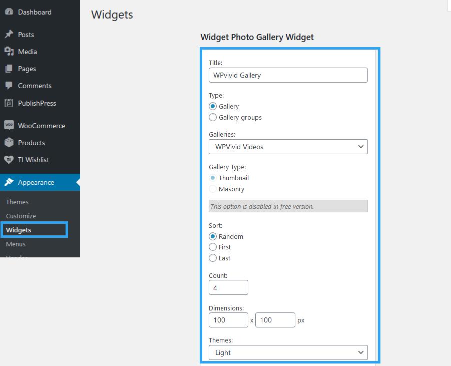 Sidebar customize