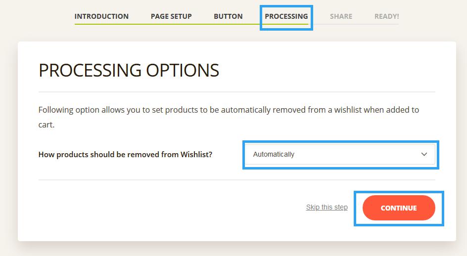 Ti WooCommerce Wishlist setup process