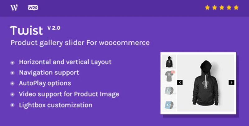 Twist Product Gallery Slider for WooCommerce